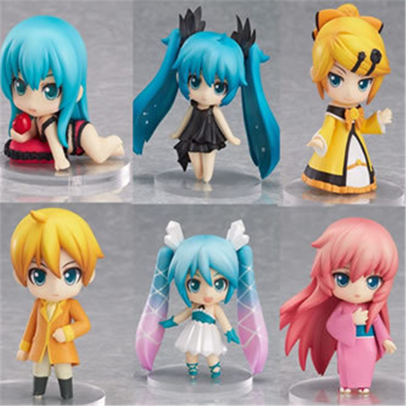 Hot Product Q Version Vocaloid Game Hatsune Miku 7cm The Most Popularanime Beautiful Girl Hatsune Miku PVC Action Figure Toys<br><br>Aliexpress