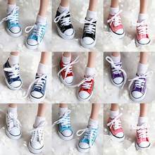Princess Canvas Cloth Doll Shoes Fashion SD MSD YOSD DD BJD Sports Shoes For 1/4 1/3 Doll Accessories Toys For Girls(China)