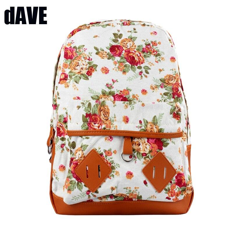 Women Girl Backpack Canvas Rucksack Flower Backpack School Book Shoulder Bag Student School Travel bags Mochila bolsas femininas<br><br>Aliexpress