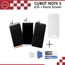 For Cubot Note S LCD display and Touch Screen + Case perfect repair part And Front Frame for Cubot Note S 1280X720 Mobile Phone