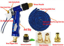 4 Brass Connectors/Replaceable Expandable Garden Hose/Brass Spry Gun Garden Hose Watering Kit 25FT/7.5M(China)