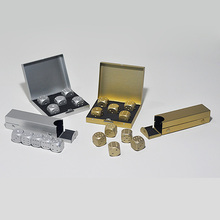 *Hot Sales 5pcs/lot Dice Set Whisky Wine Beer Cooler Ice Stone Stainless Steel Cube Physical Cooling Tools Ice Coolers Holder