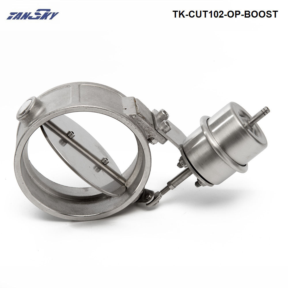 TANSKY-NEW Boost Activated Exhaust Cutout /Dump 102MM Open Style Pressure: about 1 BAR For Ford Focus ZX3/ZX5 TK-CUT102-OP-BOOST