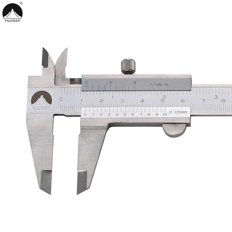 FUJISAN 0-150mm/0.05 Vernier Caliper 1/128in Paquimetro Stainless Steel Measuring Tools Calipers Gauge Ferramenta Gauging Tools<br><br>Aliexpress