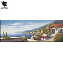 GenDi Wall Art Canvas Painting Pictures Thomas Landscape For Living Room Sea Country Forest River Cozy Life Cuadros Decoration