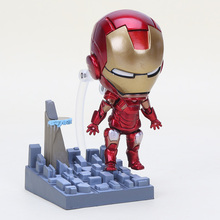 2015 Movies Cartoon Iron Man Nendoroid 284# Iron Man Mark7 Action figure Model kids Toys Doll(China)