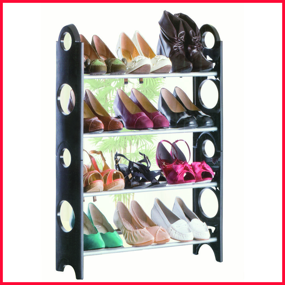 Free Shipping 4 Tier Shelf Shoe Rack Organiser Stand Cupboard For 12 Pairs Shoes Easy Assembly<br>