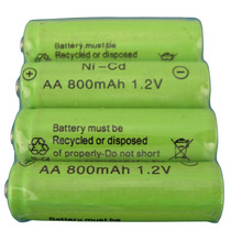 5Pcs 1.2V 800Mah Nicd AA battery 1.2v toy car battery rechargeable battery nicd AA wholesale(China)