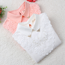 Girls Blouse 2017 Autumn Baby Girl Clothes Children Clothing School Girl Blouse Cotton Child Shirt Blusas Kids Clothes 2-14Y(China)