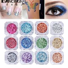 12color Laser Nail Powder Glitter Powder Holographic Dust DIY Bling Acrylic Polish Maincure Tips Eyeshadow Body Decoration 3g