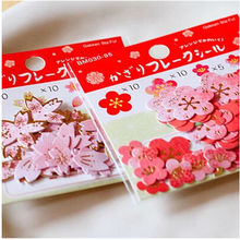 40 Pcs/Pack Stationery Notebook Papery Cherry Blossoms Plum Flower Bronzing Sticker Free Shipping(China)