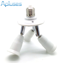 Adjustable 3 in1 E27 Base LED Bulb Holder Socket Splitter Light Lamp Bulb Adapter Holder 1 to 3 Lamp Bases High Quality