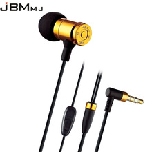 High Quality Metal In-Ear Earphones Gold Bullet Earphone Metal Fone de Ouvido for Sony for Samsung Mp3 for xiaomi