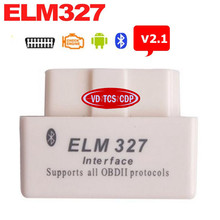 White Mini ELM327 V2.1 Bluetooth OBD Advanced OBDII OBD2 ELM 327 Auto Car Diagnostic Scanner code reader scan tool hot selling(China)