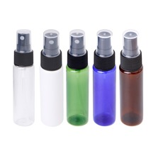 1PC 30ML Empty Mini Sprayer Refillable Press Atomizer Perfume Spray Travel Bottle 30ml Transparent/Blue/Green/White/Brown(China)