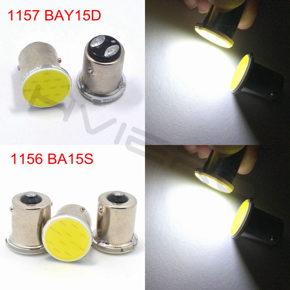 Hviero White cob p21w 12 smd 1156 BA15S 1157 BAY15D DC 12v bulbs RV Trailer Truck car styling Light parking Auto led Car backup lamp