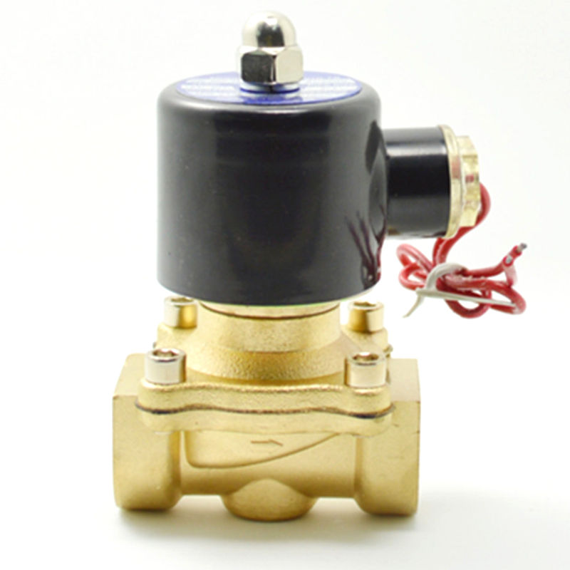 2017 New 3/4 AC 220V Electric Solenoid Valve Pneumatic Valve for Water Oil Air Gas x1 1Pneumatics Alloy Body<br>