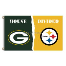Green Bay Packers Flag Vs Pittsburgh Steelers Banners Sport Football Team Flags 3x5 Ft Super Bowl Champions Banner 90 X 150 Cm(China)