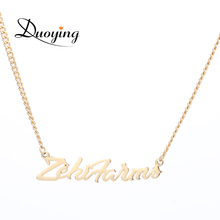 Buy Duoying Custom Name Necklace Gold Cuba Chain Personalized Trendy Necklaces Mans Boys Necklace Etsy Cutting Pendant Necklaces for $9.49 in AliExpress store