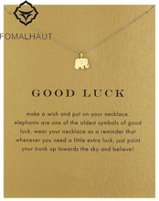 Sparkling good lucky elephant Pendant necklace Clavicle Chains Statement Necklace Women FOMALHAUT Jewelry
