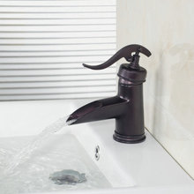 Deck Mount Basin Torneira Waterfall Bathroom Oil Rubbed Black Bronze 96108-1/10 Single Handle Sink Faucet,Mixers &Taps