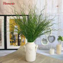 1 PCS Beautiful Artificial Long Thin Leaves Green Plant Plastic Grass Bush Home Decoration