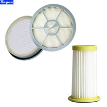 1x Vacumm Cleaner Parts HEPA filter and 1x Round Air Outlet Filter replacement for Philips FC8260FC8261FC8262FC8264