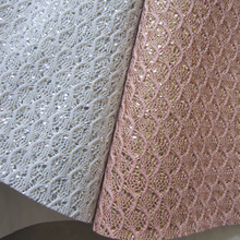 30cm x 134cm chunky scale glitter pu leather lace fabric glitter fabric for sawing DIY AY120(China)