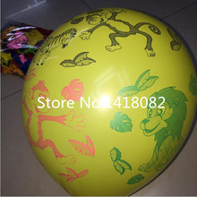 New style! 12 inch 2.8 g 50pcs animal printing balloons cartoon characters latex color balloons birthday party decoration(China)