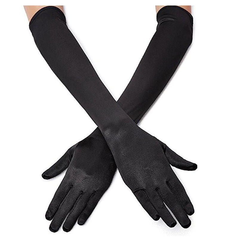 Stretch Satin Gloves Wrist Elbow Opera Extra Long Evening Party Fancy Costume