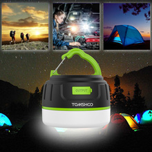 200LM Portable Rechargeable LED Camping Lantern Camping Hiking Tent Lights Camping Hiking 2 in 1 LED Camping Lantern Power Bank(China)