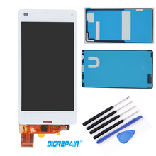 "LCD with Adhesive and Tools 4.3"" inch White For Sony Xperia Z3 mini Compact D5803 D5833 LCD Display Touch Screen Digitizer Parts"