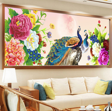 DIY 5D Diamond Painting Peacock Cross stitch Peacock Needlework Diamond Embroidery Pattern Hobbies and Crafts Home Decor Gifts(China)
