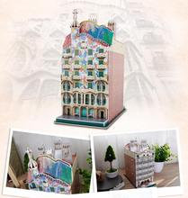 CubicFun 3D puzzle paper model assemble building casa batllo apartment Spain home house baby hand work game birthday gift 1set