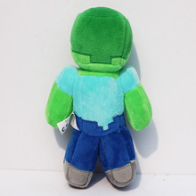 "2016 Hot sale new 18cm/7"" Minecraft Steve Creeper Zombie Soft Plush Toy Doll Xmas Gift GAME For Baby Boy Gril Children(China)"
