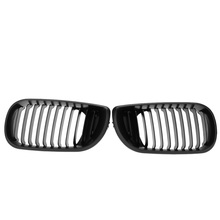 Black Matt Front Car Style Front Bumper Kidney Racing Grilles for BMW E46 02-05 4 door 4D 3 Series