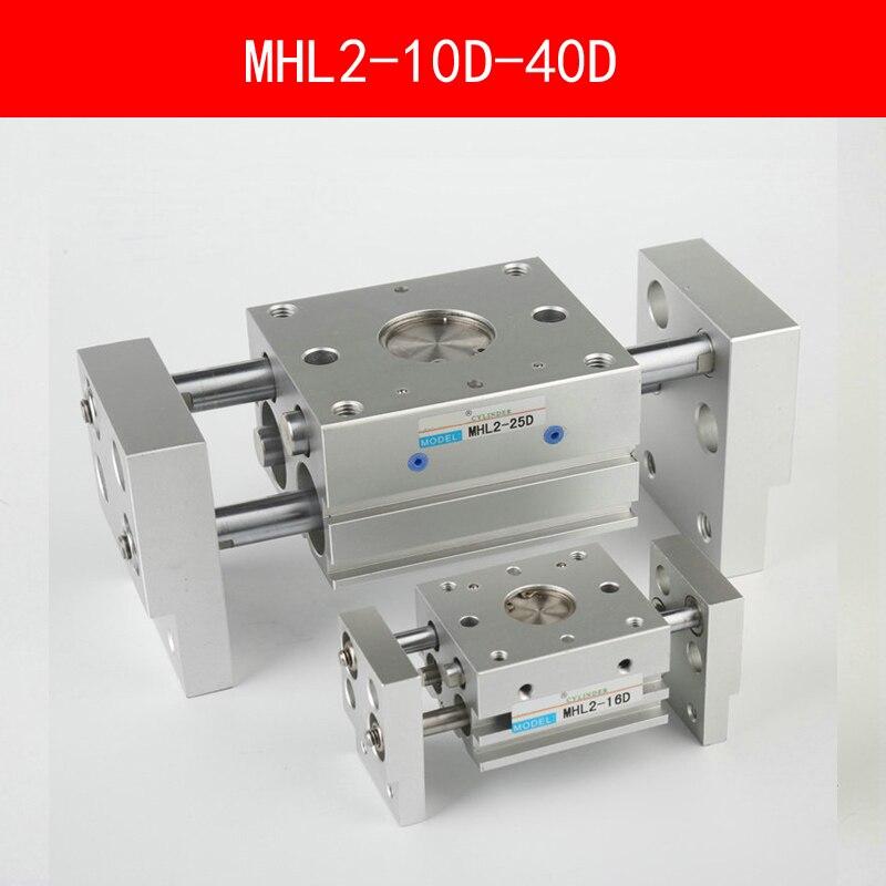 MHL2 10D 16D 20D 25D 32D 40D Double Acting Pneumatic Gripper Wide Type Air Gripper Parallel Cylinder Al Clamps Bore 10-40mm<br>