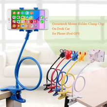 Phone holder Universal Long Arm Lazy Mobile Phone Gooseneck Stand Holder Flexible Bed Desk Table Clip Bracket For iphone Samsung