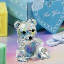FREE SHIPPING+Baby Shower Favors Choice Crystal Collection Teddy Bear Figurines -Blue For Baby Boy Baptism Gift