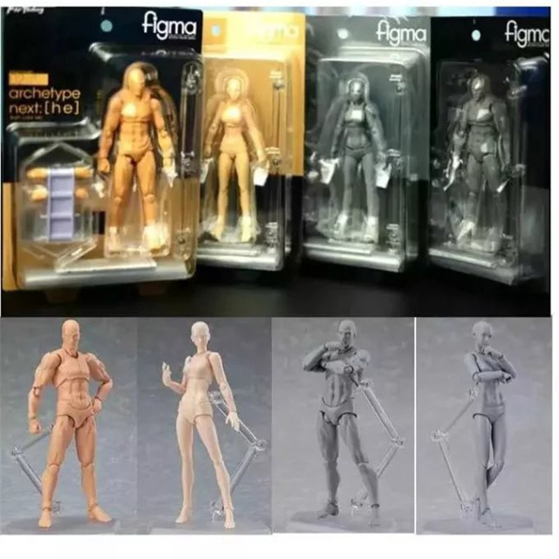2017 Latest version 4 Style Body Chan Pale Orange Ver Figma She &amp; He Action S.H.Figuarts (SHF) PVC Action Figure Toy<br><br>Aliexpress