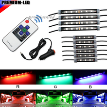 10-Piece Universal Fit 42-LED RGB Multi-Color for Truck Bed Cargo Area LED Lighting Kit w/ Wireless Remote Control(China)