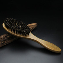 2017 Direct Selling Hairbrush Hair Brush Care Hot Sale of High-grade Boutique Pure Natural Green Sandalwood Bristles Comb(China)