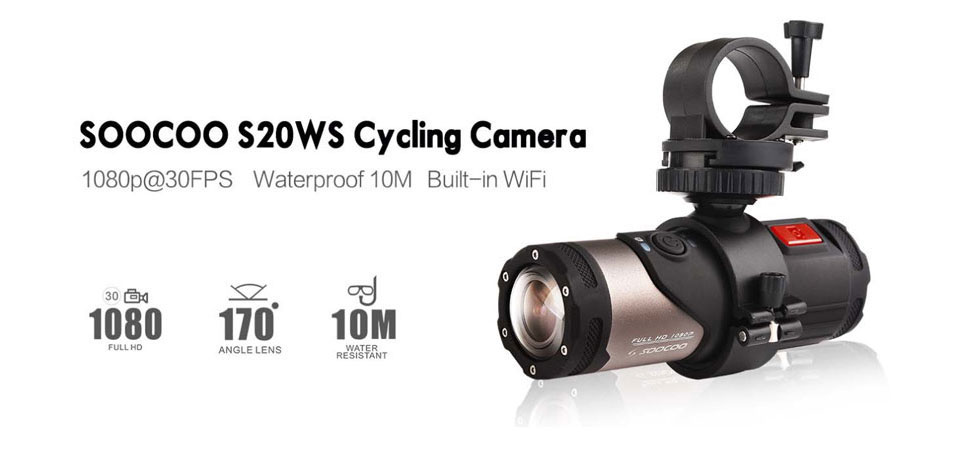 SOOCOO SWS Mini Camcorder Action Camera Built-in WiFi Full HD 1080P 10m Wateproof Sports Camera 4