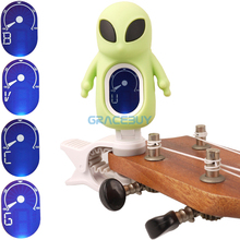SWIFF Electric Chromatic Tuner Carton Alien Style Clip-On LCD Display Digital Tuner for Guitar / Ukulele/ Violin/ Bass New
