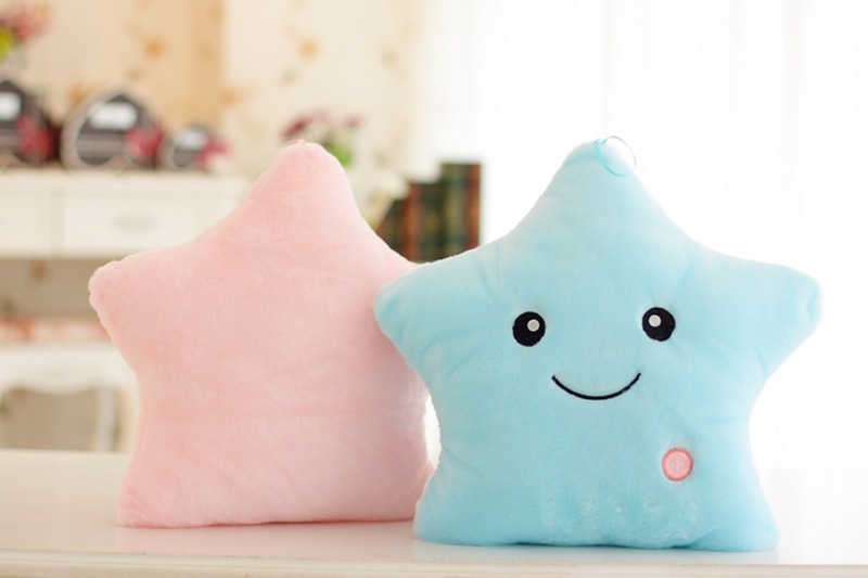 Colorful Body Pillow Cushion Star Glow LED Luminous Light travel Pillow Cushion Soft Relax Gift Smile 5 Colors Body Pillow 4