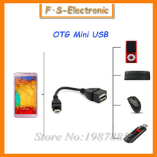 10pcs/lot Micro USB To Female USB Host Cable OTG Mini USB Cable For Samsung/HTC/LG/Sony huawei Lenovo Android Tablet PC /MP3/MP4