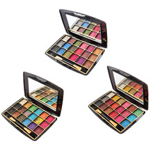 MISS ROSE18 Color Pearlescent 3D Colorful Convex Powder Wet Eye Shadow Palette Eyeshadows Nude Palete(China)
