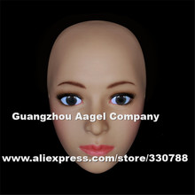 [H-10] Top quality human face mask movie costumes props, realistic silicone mask, masquerade masks, female mask  crossdresser