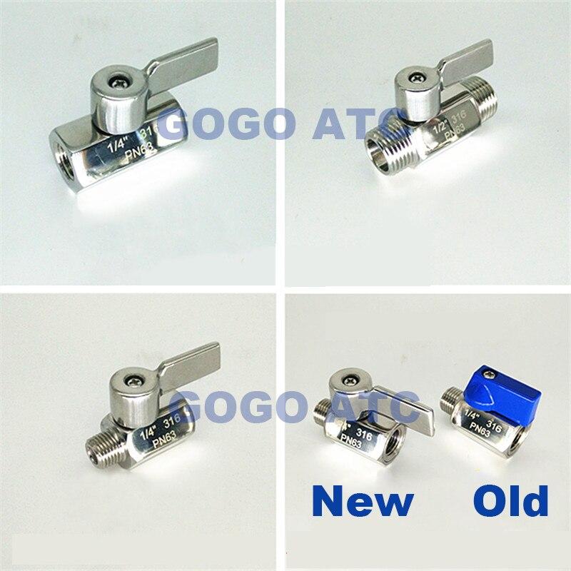 MINI ball valve SS304 316 1-4-3-8-1-2 New 1