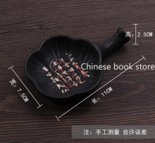 Chinese pen writing brush ink dish made of ceramics ink storage Chinese ink brushes holder brushes pen suppliers